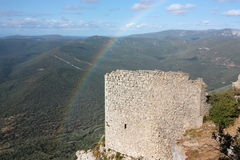Castle of Peyrepertuse in France Royalty Free Stock Photography