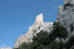 Castle of Peyrepertuse, France Royalty Free Stock Photo
