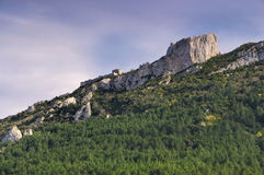 Castle Peyrepertuse in France Stock Photography