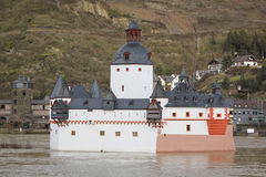 Rhine River Castle Pfalzgrafenstein Germany Stock Images
