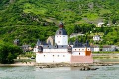 Castle pfalzgrafenstein in the rhine in Rhineland-Palatinate Germany royalty free stock photo