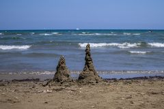castle piasek na pla?y zdjęcia stock
