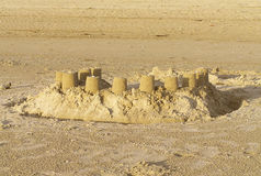 castle piasku Obraz Stock