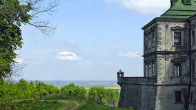 Castle in Pidhirtsi. Fantastic view at the castle in Pidhirtsi Stock Photos