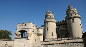 Castle of Pierrefonds Royalty Free Stock Image