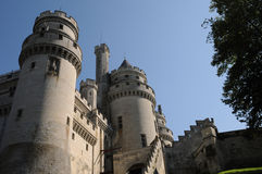Castle of Pierrefonds Royalty Free Stock Images