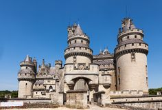 Castle of Pierrefonds in Oise, France Royalty Free Stock Photos