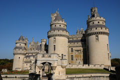 Castle of Pierrefonds in Picardie Stock Image