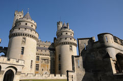castle of Pierrefonds in Picardie Stock Photo