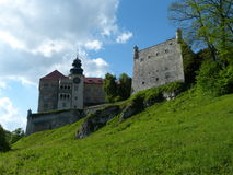 Castle in Pieskowa Skała Stock Images