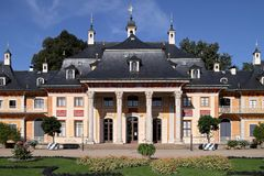Castle Pillnitz. The Bergpalais is  part of the castle Pillnitz in Dresden Stock Images