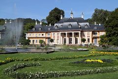 Castle Pillnitz. The Bergpalais is part of the castle Pillnitz in Dresden Stock Photography