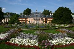 Castle Pillnitz. The Mountain Palace, part of the historical castle Pillnitz in Saxony, Germany Stock Photo