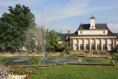 Castle Pillnitz. The New Palace is part of the historic castle and Park Pillnitz, Germany stock photography