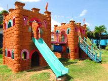 Castle playground. Stock Photography