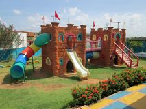 Castle playground. Stock Images