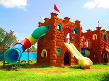 Castle playground. Royalty Free Stock Photo