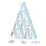 Castle with Playing Card Royalty Free Stock Images