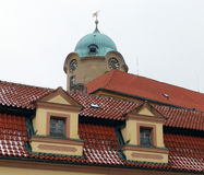 Castle of Podebrady. Castle in the city od Podebrady in the Czech republic - tower detail - structure detail Royalty Free Stock Photos
