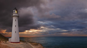 Castle Point Lighthouse. Sunrise, Wairarapa New Zealand Royalty Free Stock Photos