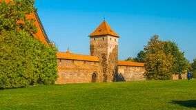 Castle in poland - 2019 - red brick building.  stock images