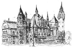 Castle Sketch Royalty Free Stock Photos