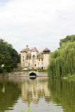 Castle with pond Stock Photography