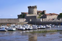 Castle and port of Socoa at Cibourre in France Stock Image