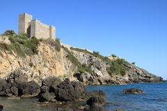 The castle in Porto Santo Stefano - Italy Royalty Free Stock Photo