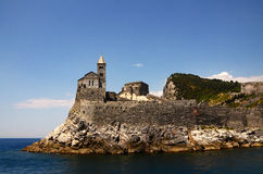 Castle in porto venere Stock Photos