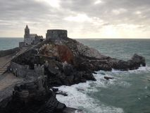 Castle in Porto Venere. Castle and view in Porto Venere royalty free stock photo