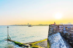 Castle with Portsmouth Seafront Stock Image
