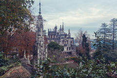 Castle in Portugal. Castle in the forest, in Sintra Stock Photo
