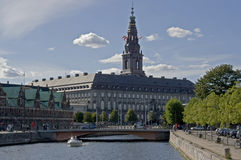 Castle of Power - Christianborg Castle Royalty Free Stock Images