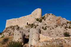 Castle of Poza de la sal Stock Photos