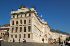 Castle of Prague. Building of the entrance of the Castle of Prague royalty free stock photos