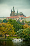 Castle of Prague. View to the Castle of Prague Royalty Free Stock Images