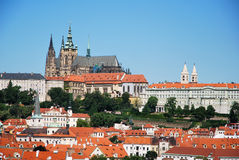 The castle of Prague Stock Image