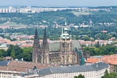 Castle of Prague aerial view royalty free stock photos