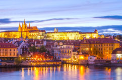 Castle of Prague (Czech Republic) and Vltava River Royalty Free Stock Photo