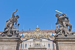 Castle of Prague stock images