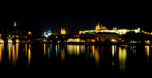 Castle of Prague at night Royalty Free Stock Image