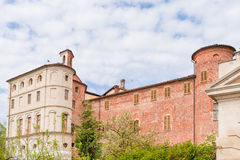 Castle of Pralormo, garden tulips in Piedmont, Italy Stock Photos