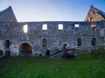 Castle and prison ruins. Castle and prison in  ruins Stock Image