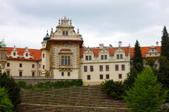 Castle in Pruhonice, Czech Republic. Beautiful castle in Pruhonice, not far from Prague Stock Images
