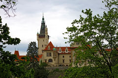 Castle in Pruhonice, Czech Republic. View of the Pruhonice castle not far from Prague, Czechia Royalty Free Stock Image