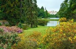 Castle Pruhonice or Pruhonicky zamek summer view (Prague, Czech) Stock Photos