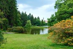 Castle Pruhonice or Pruhonicky zamek summer view (Prague, Czech) Royalty Free Stock Images
