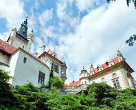 Castle Pruhonice summer perspective view (Pr Stock Photo