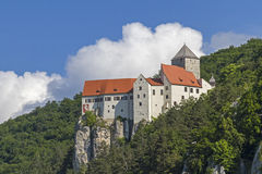 Castle Prunn in the Altmühl valley Stock Photos